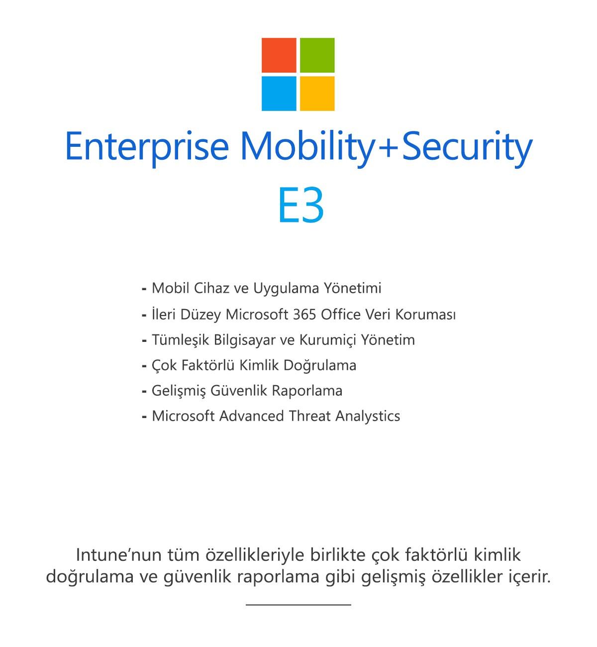 Enterprise Mobility+Security E3