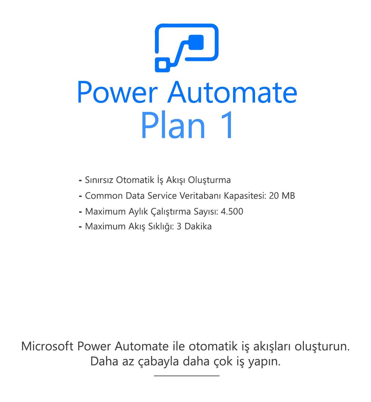 Power Automate Plan 1