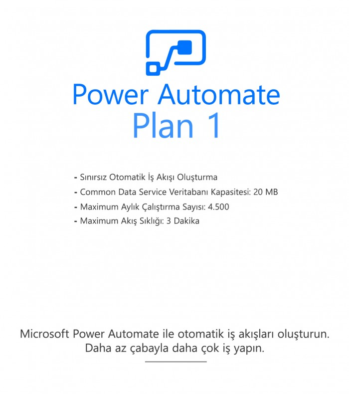 Power Automate Plan 1