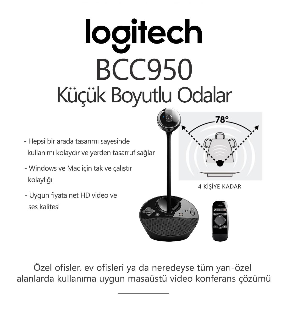 Logitech BCC950 Konferans Sistemi