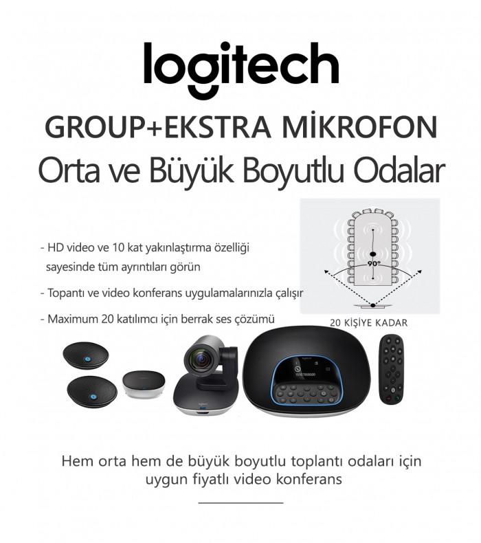 Logitech GROUP + EKSTRA MİKROFON Konferans Sistemi