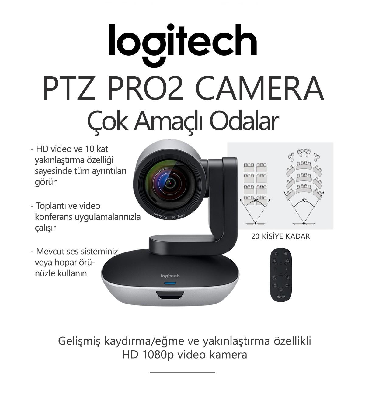 Logitech PTZ PRO2 CAMERA Konferans Sistemi