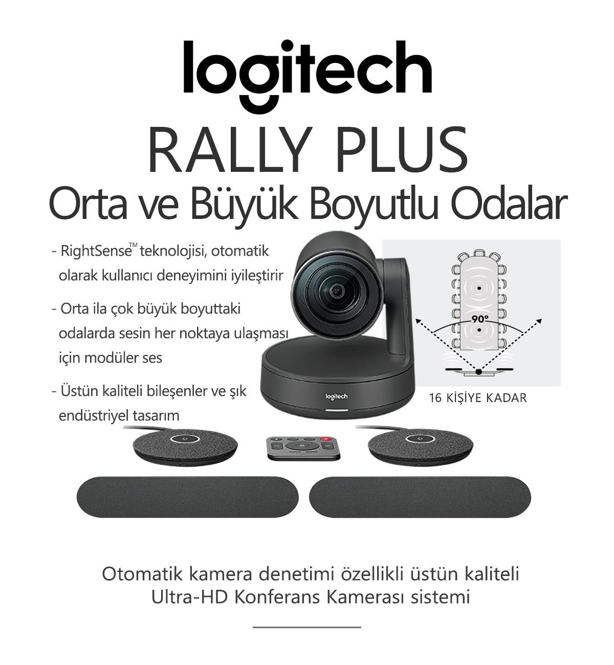 Logitech RALLY PLUS STANDARD Konferans Sistemi