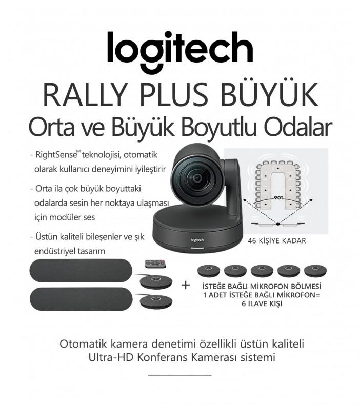Logitech RALLY PLUS BÜYÜK Konferans Sistemi