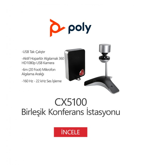 Poly CX5100 Birleşik Konferans İstasyonu