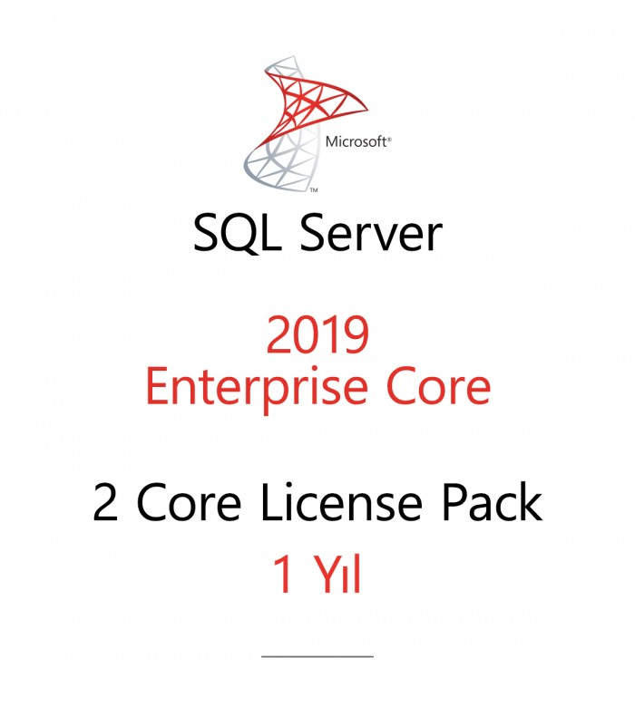 SQL Server Enterprise 2 Core License Pack 1 year