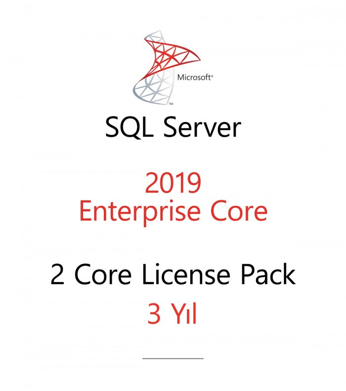 SQL Server Enterprise 2 Core License Pack 3 year