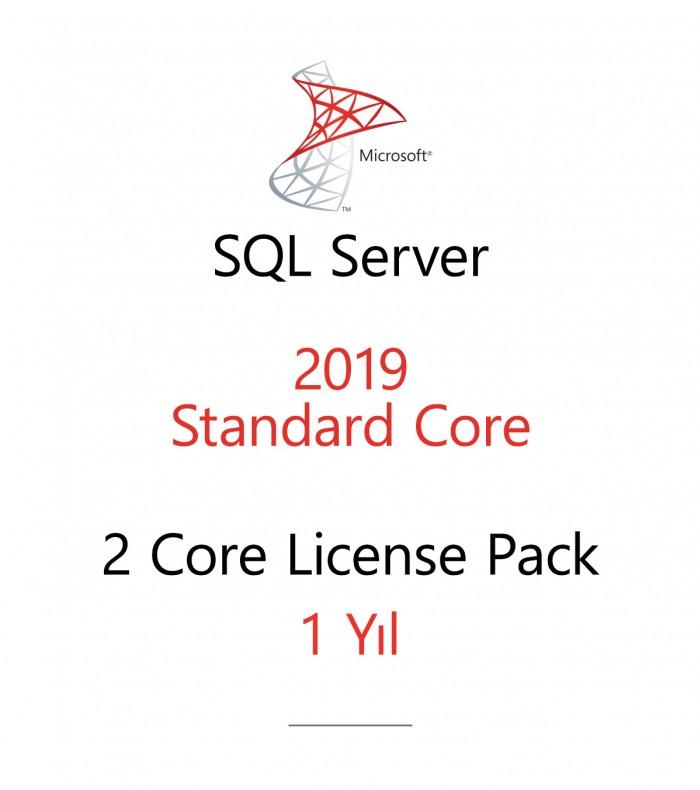 SQL Server Standard 2 Core License Pack 1 year