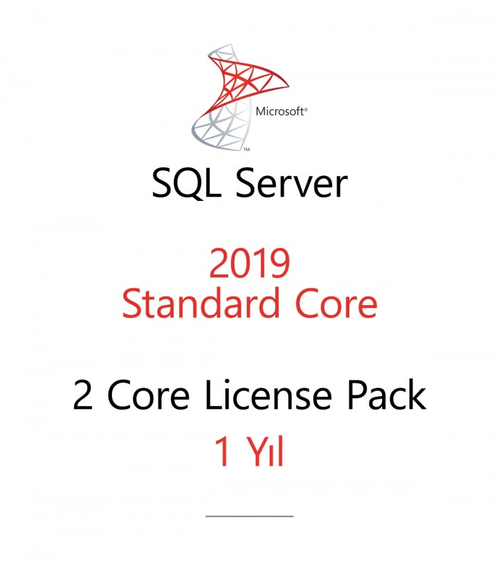 SQL Server Standard 2 Core License Pack 1 year