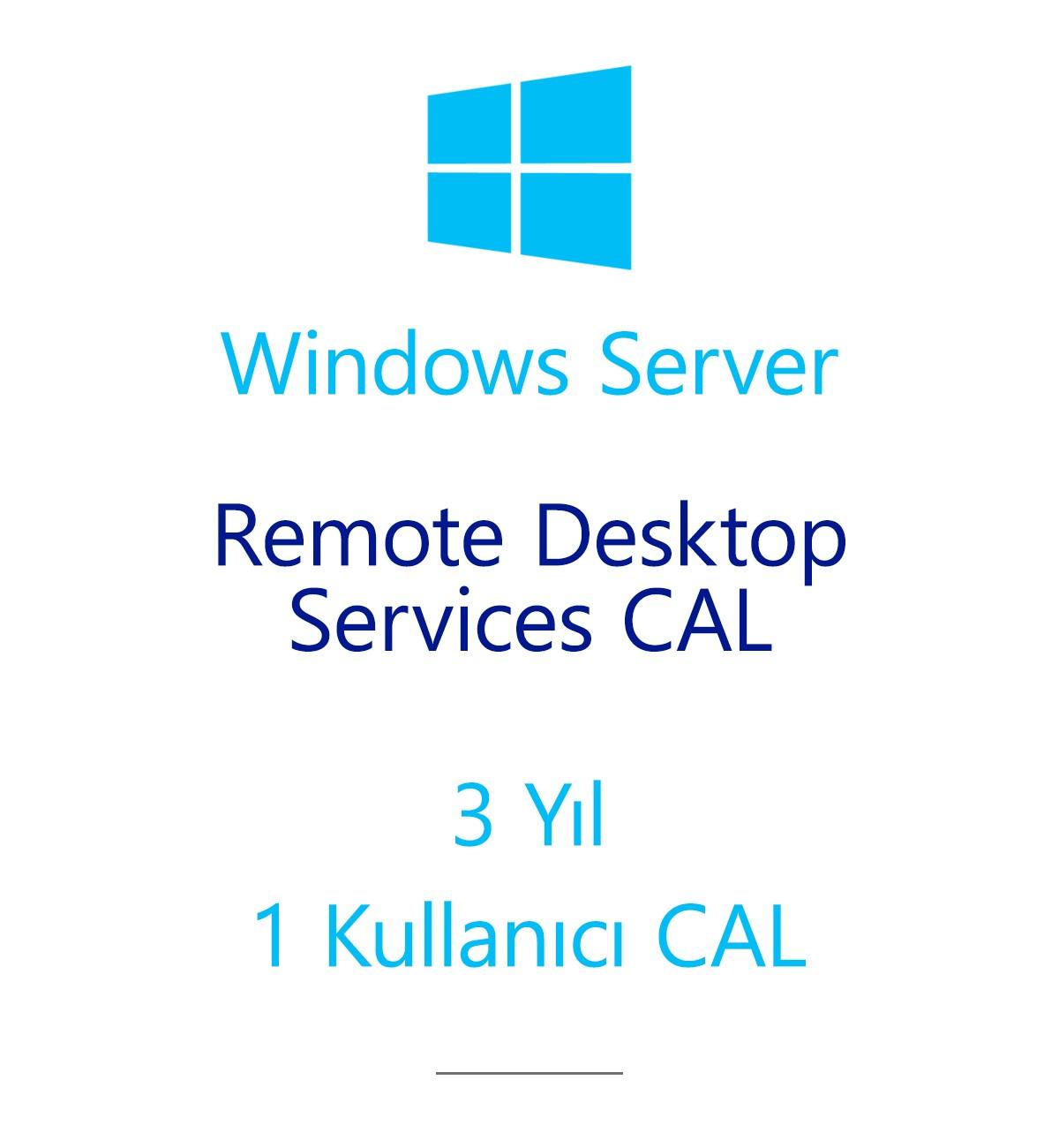 Windows Server Remote Desktop Services CAL 3 Year - 1 User CAL