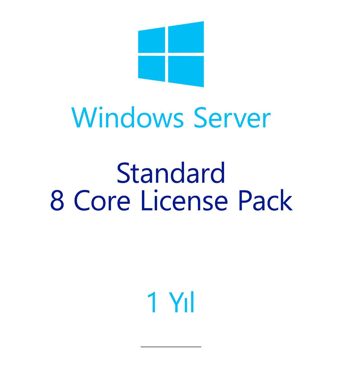 Windows Server Standard 8 Core License Pack 1 year