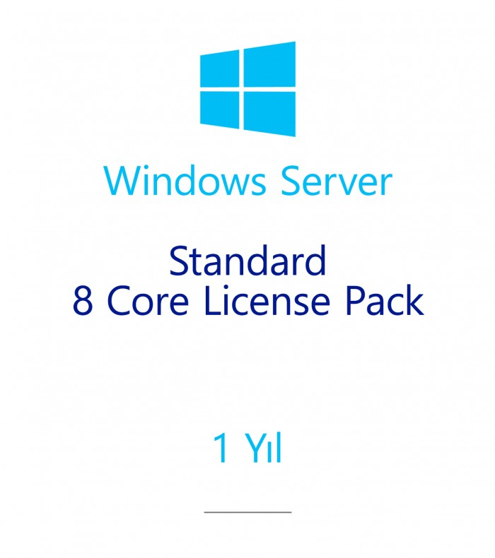 Windows Server Standard 8 Core License Pack 1 year