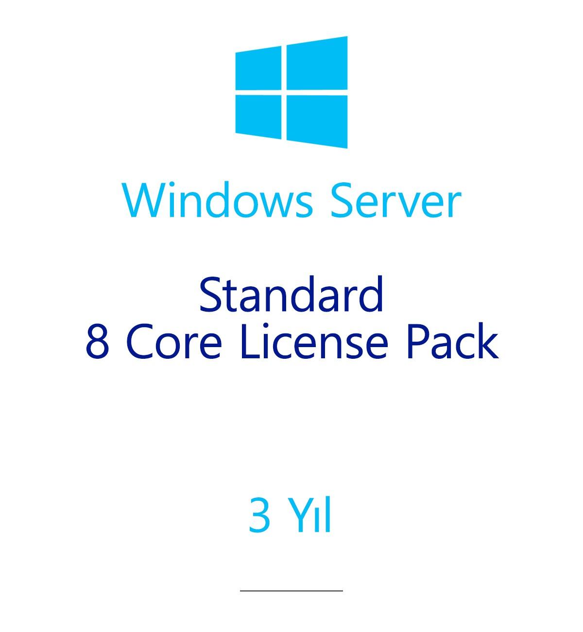 Windows Server Standard 8 Core License Pack 3 year