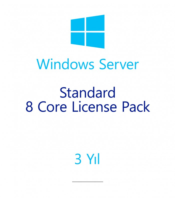 Windows Server Standard 8 Core License Pack 3 year